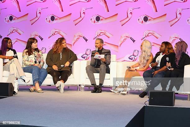 Patricia Bright Naomi Pike Gracie F Victory Jay Manuel Marc Zapanta Chanel Boateng and Amena attend Beautycon Festival London 2016 at Olympia London...