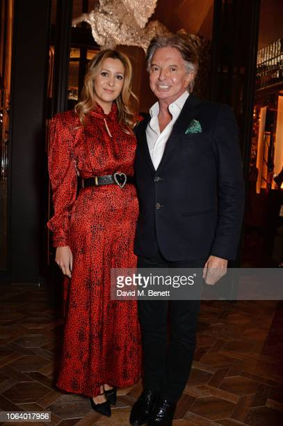 Patricia Caring and Richard Caring attend the launch of new restaurant Brasserie Of Light at Selfridges on November 20 2018 in London England