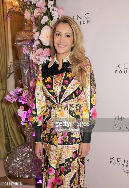 Patricia Caring attends International Women's Day for The Caring Foundation with Salma Hayek at Annabel's on March 08, 2020 in London, England.
