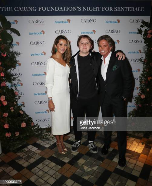 Patricia Caring Lewis Capaldi and Richard Caring attend as Sentebale held an event on January 19 hosted by Mr Mrs Caring on behalf of The Caring...
