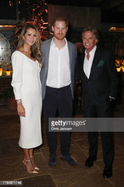 Patricia Caring Prince Harry Duke of Sussex Richard Caring as Sentebale held an event on January 19 hosted by Mr Mrs Caring on behalf of The Caring...