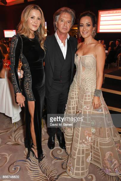 Patricia Caring Richard Caring and Batia Ofer attend The Art Of Wishes Gala at The Dorchester on October 2 2017 in London England