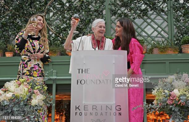 Patricia Caring, Vanessa Redgrave and Salma Hayek Pinault attend International Women's Day for The Caring Foundation with Salma Hayek at Annabel's on...