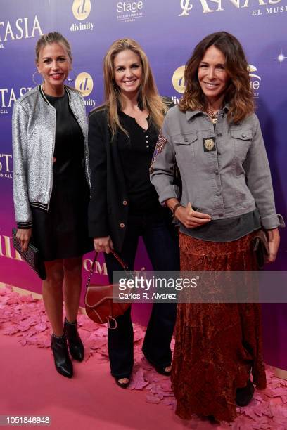Patricia Cerezo Genoveva Casanova and Lydia Bosch attend 'Anastasia The Musical' premiere at the Coliseum Teather on October 10 2018 in Madrid Spain