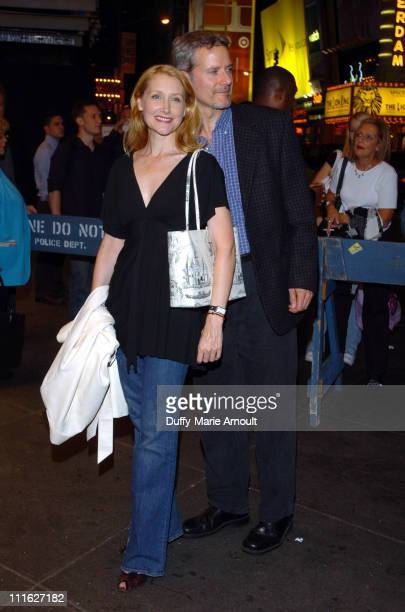 """Patricia Clarkson and Campbell Scott during """"A Naked Girl on the Appian Way"""" Broadway Opening Night - Arrivals at American Airlines Theater in New..."""