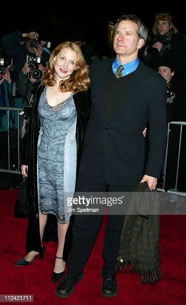 Patricia Clarkson and Campbell Scott during The 2002 New York Film Critics Circle 68th Annual Awards Dinner Outside Arrivals at Noche Restaurant in...