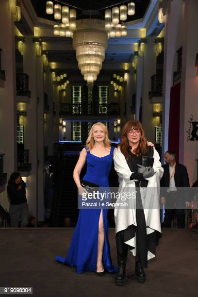 Patricia Clarkson and Isabel Coixet attend the 'The Bookshop' premiere during the 68th Berlinale International Film Festival Berlin at...