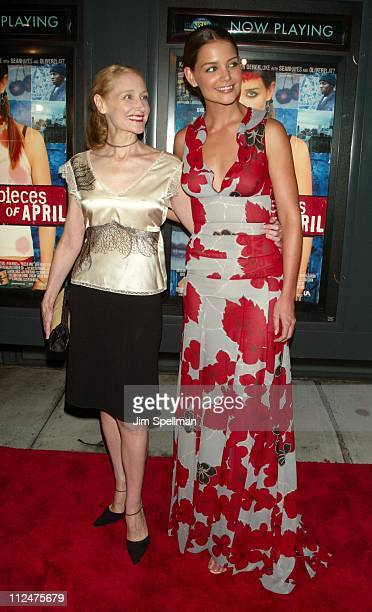 Patricia Clarkson and Katie Holmes during 'Pieces of April' New York City Premiere at Landmark's Sunshine Theater in New York City New York United...