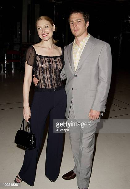Patricia Clarkson and Sam Rockwell during Cannes 2002 Director's Fortnight Closing Night 'Welcome to Collinwood' Premiere and Party at Noga Hilton in...