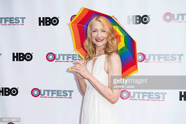 Patricia Clarkson arrives at the 2014 Outfest Film Festival 'Last Weekend' premiere at DGA Theater on July 19 2014 in Los Angeles California