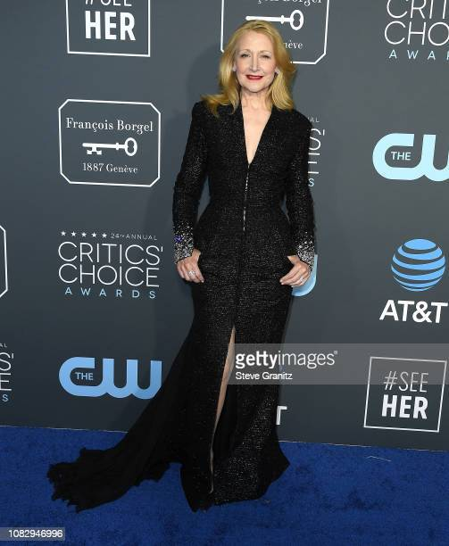 Patricia Clarkson arrives at the The 24th Annual Critics' Choice Awards attends The 24th Annual Critics' Choice Awards at Barker Hangar on January 13...