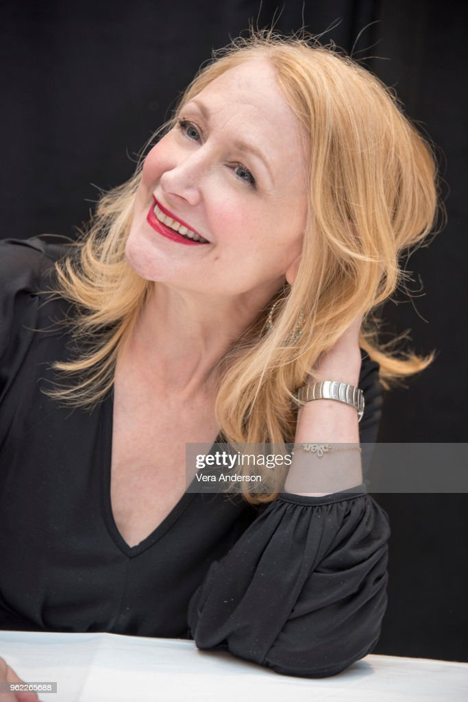 Patricia Clarkson at the 'Sharp Objects' Press Conference at the Whitby Hotel on May 24, 2018 in New York City.