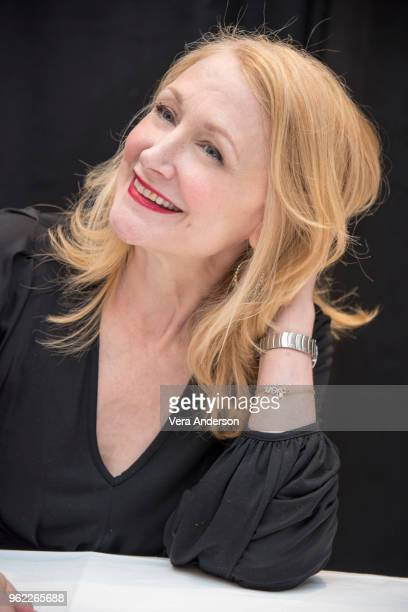 Patricia Clarkson at the Sharp Objects Press Conference at the Whitby Hotel on May 24 2018 in New York City