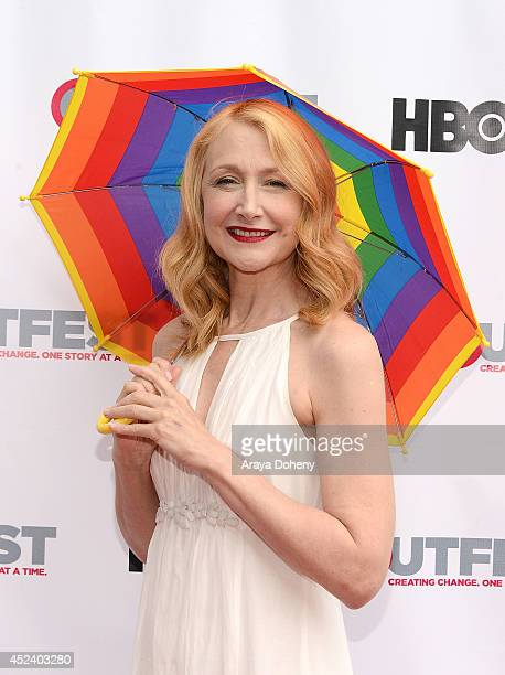 Patricia Clarkson attend the 2014 Outfest Film Festival 'Last Weekend' premiere at DGA Theater on July 19 2014 in Los Angeles California