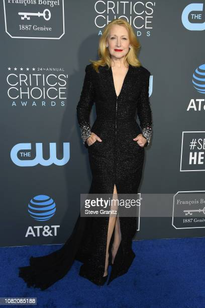 Patricia Clarkson attends the 24th annual Critics' Choice Awards at Barker Hangar on January 13 2019 in Santa Monica California