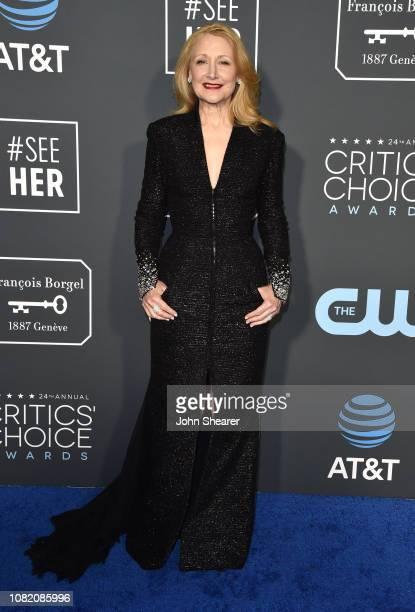 Patricia Clarkson attends the 24th Annual Critics' Choice Awards at Barker Hangar on January 13 2019 in Santa Monica California