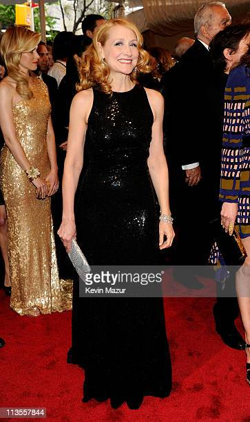 "Patricia Clarkson attends the ""Alexander McQueen: Savage Beauty"" Costume Institute Gala at The Metropolitan Museum of Art on May 2, 2011 in New York..."