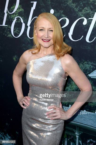 Patricia Clarkson attends the premiere of HBO's 'Sharp Objects' at The Cinerama Dome on June 26 2018 in Los Angeles California