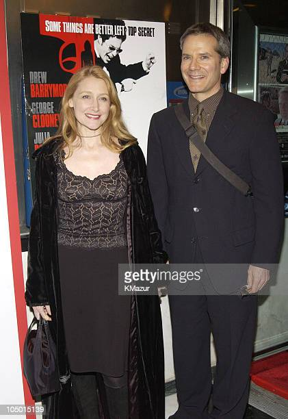 """Patricia Clarkson & Campbell Scott during """"Confessions of A Dangerous Mind"""" - New York Premiere - Inside Arrivals at Paris Theater in New York City,..."""