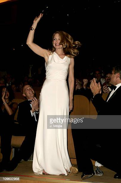 Patricia Clarkson during 2005 Venice Film Festival Good Night and Good Luck Premiere Inside at Sala Grande in Venice Lido Italy