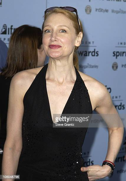 Patricia Clarkson during The 18th Annual IFP Independent Spirit Awards Arrivals at Santa Monica Beach in Santa Monica California United States
