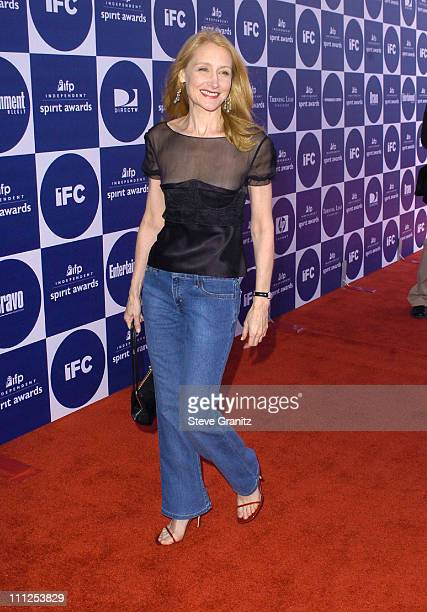 Patricia Clarkson during The 19th Annual IFP Independent Spirit Awards Arrivals at Santa Monica Pier in Santa Monica California United States