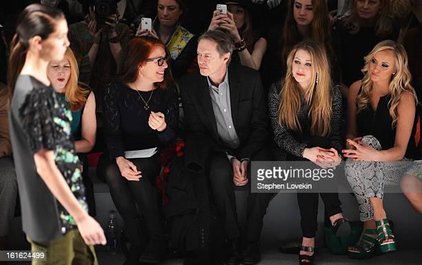 Patricia Clarkson Jo Andres Steve Buscemi Ella Rae Peck and Nastia Liukin attend the Nanette Lepore Fall 2013 fashion show during MercedesBenz...