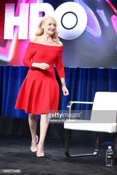 Patricia Clarkson of 'Sharp Objects' speaks onstage during the HBO portion of the Summer 2018 TCA Press Tour at The Beverly Hilton Hotelon July 25...