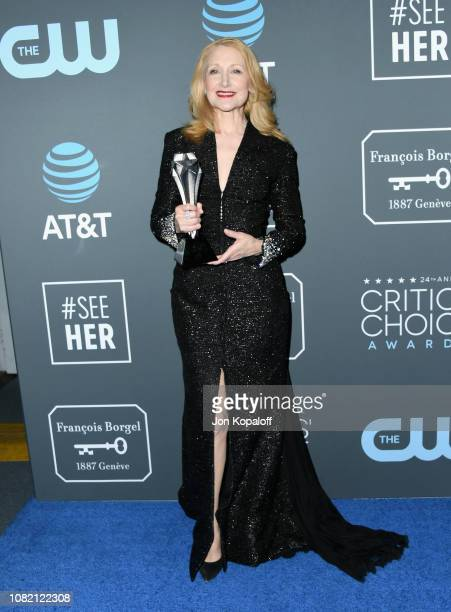 Patricia Clarkson poses in the press room during the 24th annual Critics' Choice Awards at Barker Hangar on January 13 2019 in Santa Monica California