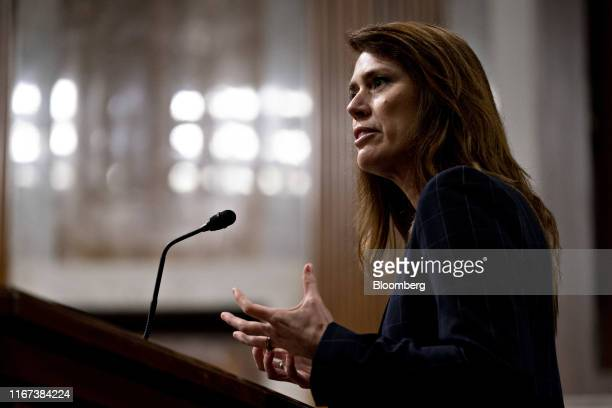 Patricia Cogswell acting deputy administrator of the Transportation Security Administration speaks during a Senate Commerce Science and...