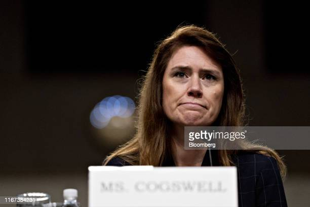 Patricia Cogswell acting deputy administrator of the Transportation Security Administration listens during a Senate Commerce Science and...