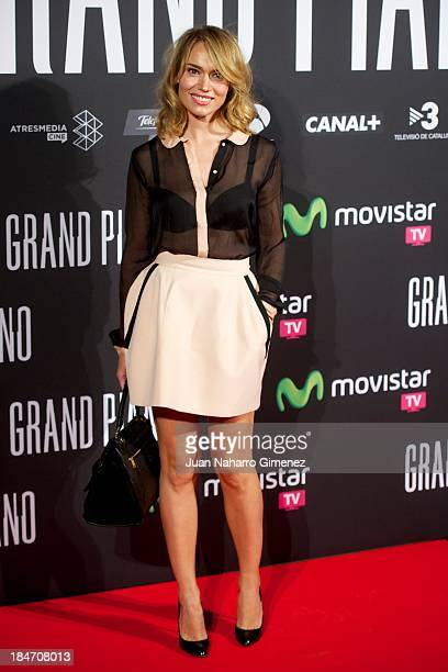 Patricia Conde attends 'Grand Piano' premiere at the Capitol Cinema on October 15 2013 in Madrid Spain