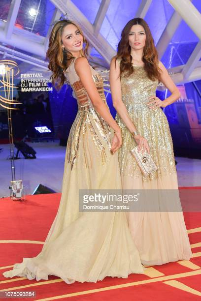Patricia Contreras and Blanca Blanco attends the 17th Marrakech International Film Festival opening ceremony on November 30 2018 in Marrakech Morocco