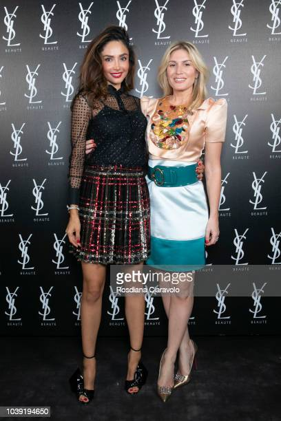 Patricia Contreras and Hofit Golan attend Ysl Beauty Club Milan during Milan Fashion Week Spring/Summer 2019 on September 23 2018 in Milan Italy
