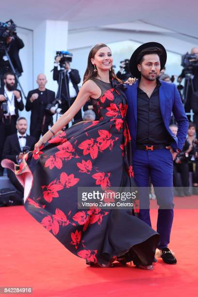 Patricia Contreras and Samuel Sohebi walk the red carpet ahead of the 'The Leisure Seeker ' screening during the 74th Venice Film Festival at Sala...