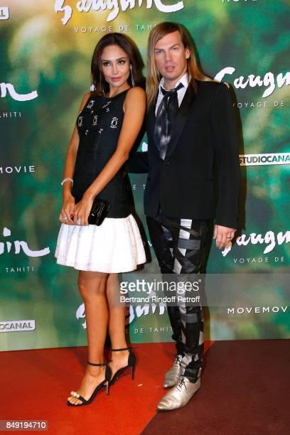 Patricia Contreras and stylist Christophe Guillarme attend the Gauguin Voyage de Tahiti Paris Premiere at Cinema Gaumont Capucine on September 18...