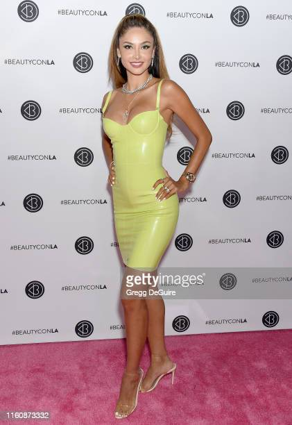 Patricia Contreras attends Beautycon Los Angeles 2019 Pink Carpet at Los Angeles Convention Center on August 10 2019 in Los Angeles California