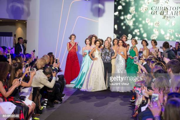 Patricia Contreras Christophe Guillarme Delphine Wespiser and Models walk the runway during the Christophe Guillarme show as part of the Paris...