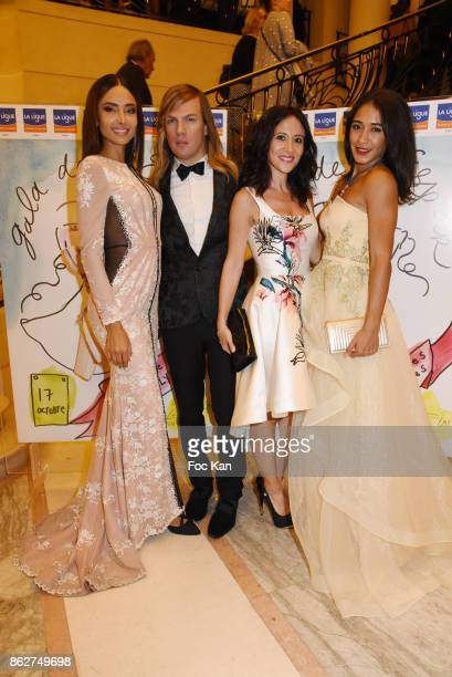Patricia Contreras designer Christophe Guillarme actresses Josephine Jobert and Fabienne Carat attend the 'Gala de L'Espoir' Auction Dinner Against...