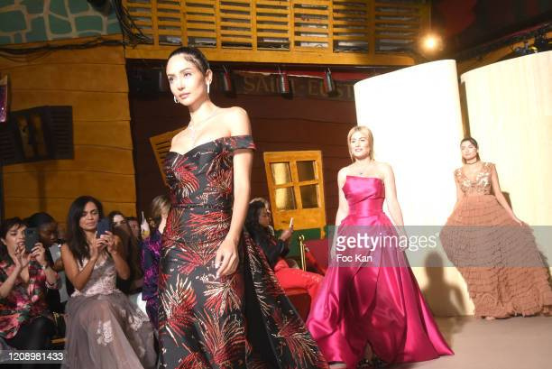Patricia Contreras Hofit Golan and Models walk the runway during the Christophe Guillarme show as part of the Paris Fashion Week Womenswear...