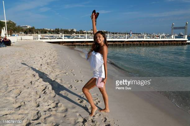 Patricia Contreras is seen on the beach during the 72nd annual Cannes Film Festival at on May 21 2019 in Cannes France