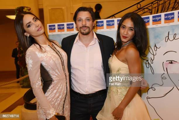 Patricia Contreras, Pascal Bliard from VIJ Paris and Josephine Jobert attend the 'Gala de L'Espoir' Auction Dinner Against Cancer at the Theatre des...