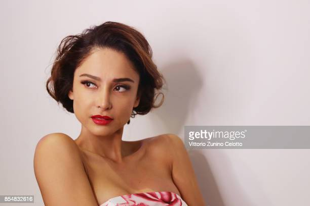 Patricia Contreras poses prior the Christophe Guillarme show as part of the Paris Fashion Week Womenswear Spring/Summer 2018 on September 27 2017 in...