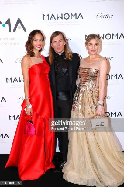 Patricia Contreras stylist Christophe Guillarme and Hofit Golan attend the Launch of the First Worldwide Itinerant Competition For Women Orchestra...