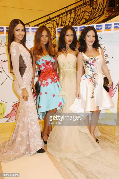 Patricia Contreras TV presenter Karine Arsene actresses Josephine Jobert and Fabienne Carat attend the 'Gala de L'Espoir' Auction Dinner Against...