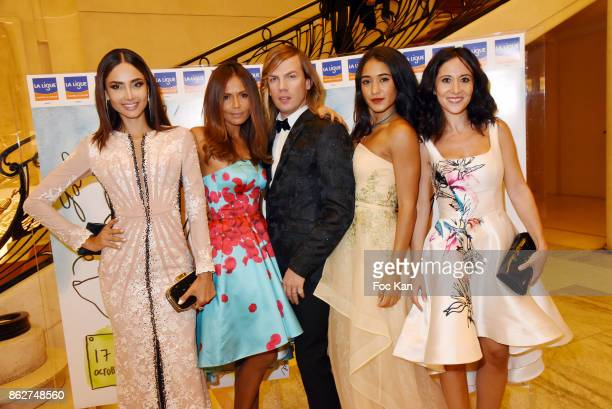 Patricia Contreras TV presenter Karine Arsene designer Christophe Guillarme actresses Josephine Jobert and Fabienne Carat attend the 'Gala de...