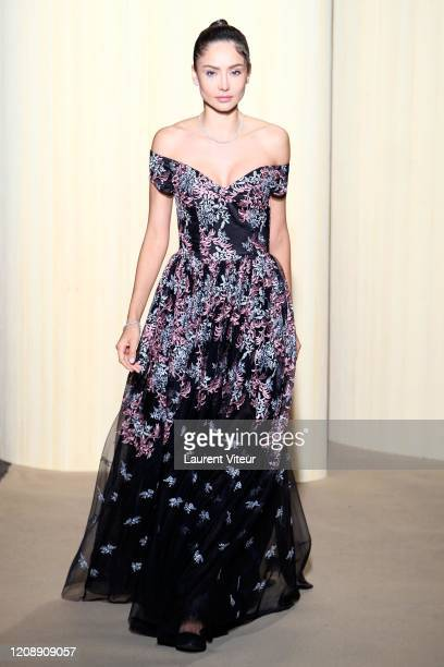 Patricia Contreras walks the runway during the Christophe Guillarme show as part of the Paris Fashion Week Womenswear Fall/Winter 2020/2021 on...
