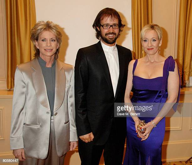 Patricia Cornwell Neil Murray and JK Rowling arrive at the Galaxy Book Awards at the Grosvenor House Hotel on April 9 2008 in London England