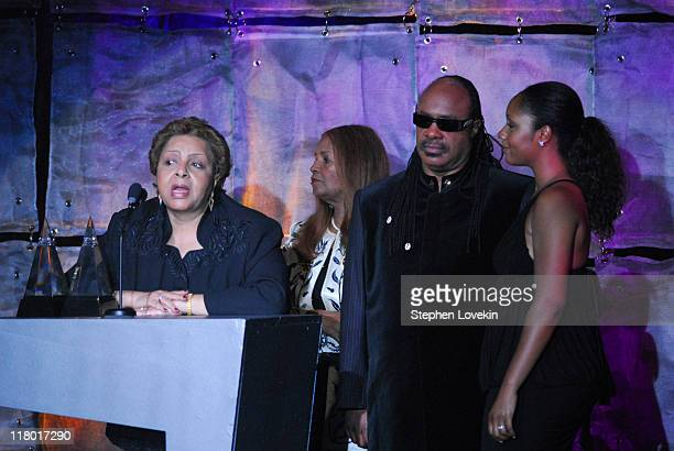 Patricia Cosby with Sylvia Moy Stevie Wonder and Aisha Morris