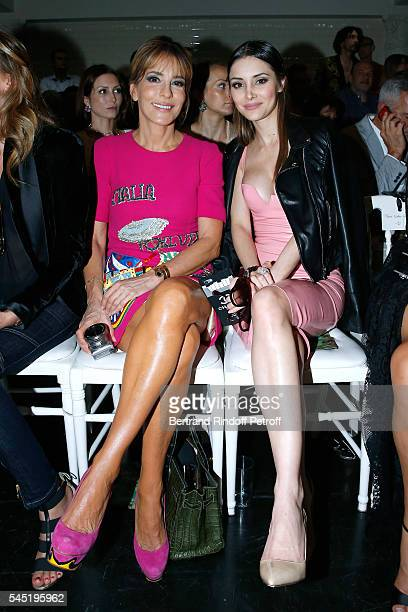 Patricia d'Arenberg and Deborah Hung attend² the Jean Paul Gaultier Haute Couture Fall/Winter 20162017 show as part of Paris Fashion Week on July 6...